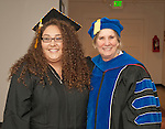 WNC student Rebecca Benner and Dr. Doris Dwyer prior to commencement at the Western Nevada College in Fallon, Nev., on Tuesday, May 20, 2014. <br /> Photo by Kim Lamb