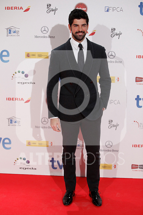 Actor Miguel Angel Muñoz attends Jose Maria Forque Awards photocall at Municipal Congress Palace in Madrid, Spain. January 13, 2014. (ALTERPHOTOS/Victor Blanco)