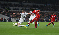 Bayern Munich's Serge Gnabry scores his side's third goal <br /> <br /> Photographer Rob Newell/CameraSport<br /> <br /> UEFA Champions League Group B  - Tottenham Hotspur v Bayern Munich - Tuesday 1st October 2019 - White Hart Lane - London<br />  <br /> World Copyright © 2018 CameraSport. All rights reserved. 43 Linden Ave. Countesthorpe. Leicester. England. LE8 5PG - Tel: +44 (0) 116 277 4147 - admin@camerasport.com - www.camerasport.com