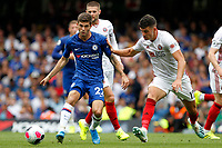 Christian Pulisic of Chelsea dribbling during the Premier League match between Chelsea and Sheff United at Stamford Bridge, London, England on 31 August 2019. Photo by Carlton Myrie / PRiME Media Images.