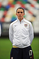 Meghan Schnur. The USA defeated Norway 2-1 at Olhao Stadium on February 26, 2010 at the Algarve Cup.