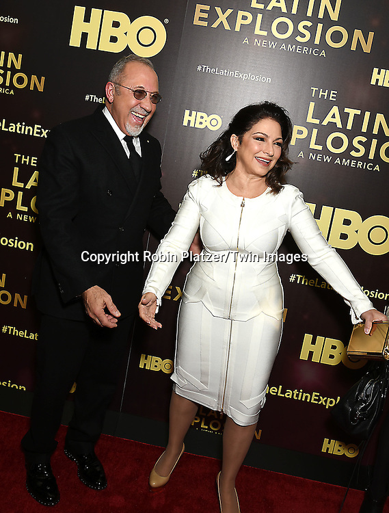 Emilio Estefan and Gloria Estefan attend the HBO premiere of &quot;The Latin Explosion: A New America&quot; on November 10, 2015 at the Hudson Theater in New York City, New York, USA.<br /> <br /> photo by Robin Platzer/Twin Images<br />  <br /> phone number 212-935-0770
