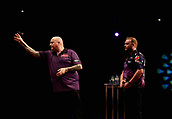 11th January 2018, Brisbane Royal International Convention Centre, Brisbane, Australia; Pro Darts Showdown Series; Andy Hamilton (GBR) in action against Robbie King (AUS)