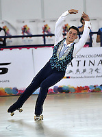 CALI - COLOMBIA - 19 - 09 - 2015: Nicola Marenda, deportista de Italia, durante la prueba de Solo Danza Obligatorias Juvenil Varones, en el LX Campeonato Mundial de Patinaje Artistico, en el Velodromo Alcides Nieto Patiño de la ciudad de Cali. / Nicola Marenda, sportman Italy, during the Compulsory Solo Dance Junior Men test, in the LX World Championships  Figure Skating, at the Alcides Nieto Patiño Velodrome in Cali City. Photo: VizzorImage / Luis Ramirez / Staff.
