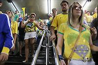 SÃO PAULO,SP, 13.03.2016 - PROTESTO-SÃO PAULO - Vista do metro Paraiso apos Milhares de pessoas participaram da manifestação realizada na Avenida Paulista, em São Paulo, contra o Governo Dilma Rousseff, neste domingo (13), pedindo o impeachment da presidente petista e o fim da corrupção. (Foto: Paulo Guereta/Brazil Photo Press)