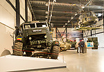 In foreground, Swampy a 6x4 Scammell Pioneer vehicle, REME museum, MOD Lyneham, Wiltshire, England, UK