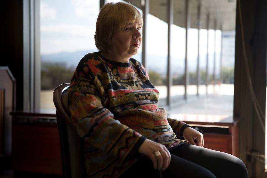 SOFIA, BULGARIA- Yordanka Godinova  who suffers from Morbus bechterew syndrome. PHOTO BY JODI HILTON/DER SPIEGEL