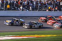 Michael Waltrip (15) Dale Earnhardt (3) battle for the lead, Daytona 500, Daytona International Speedway, Daytona Beach, FL, February 18, 2001.  (Photo by Brian Cleary/ www.bcpix.com )