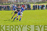 Brian Curran (St Marys) in action with Jonathan Best (Ardfert)  in the County League Division 3 Round 2 at Ardfert GAA Grounds on Sunday.