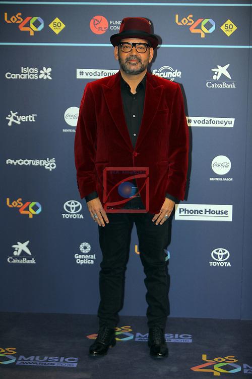 Los 40 MUSIC Awards 2016 - Photocall.<br /> Jose Corbacho.