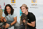 "HAIR cast  - Will Swenson and Gavin Creel at Broadway Barks 11 - a ""Pawpular"" star-studded dog and cat adopt-a-thon on July 11, 2009 in Shubert Alley, New York City, NY. (Photo by Sue Coflin/Max Photos)"