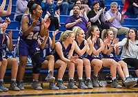 NWA Democrat-Gazette/BEN GOFF @NWABENGOFF<br /> Fayetteville players react after their teammate made a three point basket against Rogers Friday, Feb. 9, 2018, in King Arena at Rogers High.