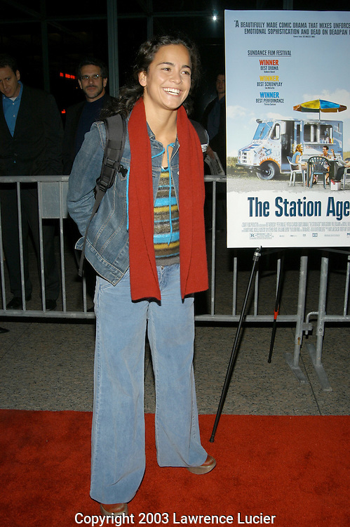 NEW YORK - SEPTEMBER 30: Actress Alice Braga arrives September 30, 2003, at a special screening of The Station Agent at Walter Reade Theater in New York City.