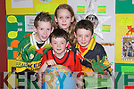 "WORLD: Displaying their project ""A Star Now and a Star by Nature"" at the Kerry Community Games Project Final on Friday at the KDYS, Denny Street, Tralee, were members of The Rock/Caherslee Club. L-r: Niall and Elisha Buckley (Caherslee) and Ciaran and Cathal O'Reilly (Rock Street).."