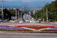 Russia, Sakhalin, Yuzhno-Sakhalinsk. Street view.