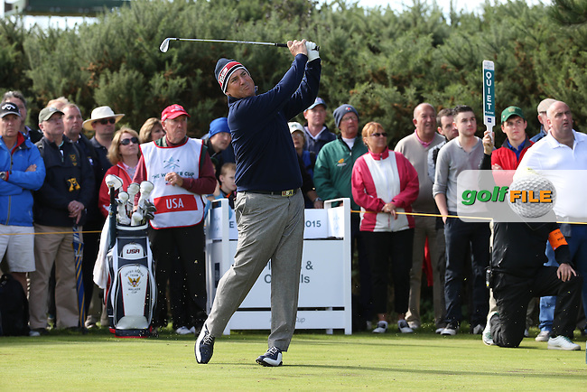 Mike McCoy (USA) during Sunday morning Foursome matches of The Walker Cup 2015 played at Royal Lytham and St Anne's, Lytham St Anne's, Lancashire, England. 13/09/2015. Picture: Golffile | David Lloyd<br /> <br /> All photos usage must carry mandatory copyright credit (&copy; Golffile | David Lloyd)