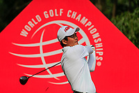 Wenchong Liang (CHN) on the 9th tee during the 2nd round at the WGC HSBC Champions 2018, Sheshan Golf CLub, Shanghai, China. 26/10/2018.<br /> Picture Fran Caffrey / Golffile.ie<br /> <br /> All photo usage must carry mandatory copyright credit (&copy; Golffile | Fran Caffrey)