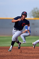 Cleveland Indians Mark Mathias (23) during an instructional league game against the Los Angeles Dodgers on October 15, 2015 at the Goodyear Ballpark Complex in Goodyear, Arizona.  (Mike Janes/Four Seam Images)