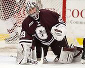 Eric Mihalik (Colgate - 29) - The Harvard University Crimson defeated the Colgate University Raiders 4-1 (EN) on Friday, February 15, 2013, at the Bright Hockey Center in Cambridge, Massachusetts.
