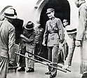 Chiang Kai-shek  (October 31, 1887 - April 5, 1975)  getting ready to head to Nanjing after a meeting in September 1937. Chiang was a Chinese political and military leader who served as the leader of the Republic of China between 1928 and 1975  and also led China in the Second Sino-Japanese War. (Photo by Kingendai Photo Library/AFLO)