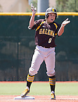 Galena's Timmy Lichty reacts after hitting a double in the first inning of the NIAA Division I Northern Region Baseball Championship between the Galena Grizzlies and the Reno Huskies played on Saturday, May 14, 2016 at Peccole Park in Reno, Nevada.