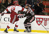 Tommy O'Regan (Harvard - 13), Brandon Pfeil (Brown - 25) - The Harvard University Crimson defeated the visiting Brown University Bears 3-2 on Friday, November 2, 2012, at the Bright Hockey Center in Boston, Massachusetts.