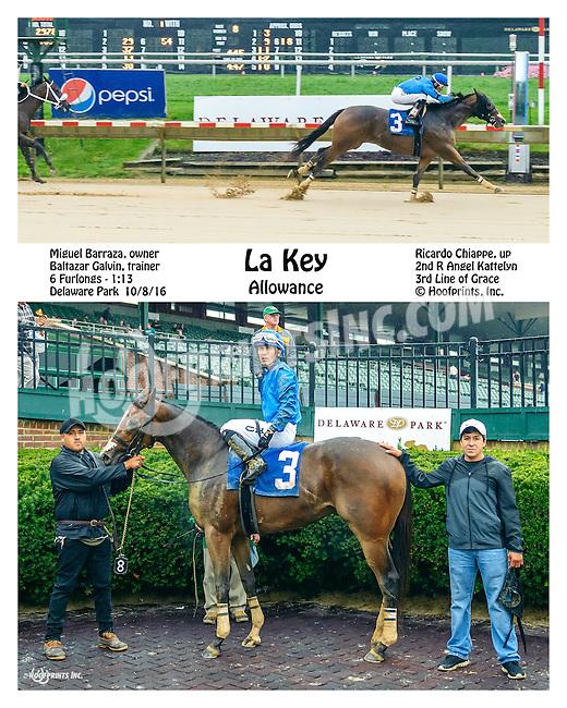 La Key winning at Delaware Park on 10/8/16