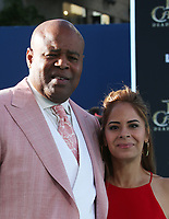 "HOLLYWOOD, CA - May 18: Chi McBride, Julissa Mcbride, At Premiere Of Disney's ""Pirates Of The Caribbean: Dead Men Tell No Tales"" At Dolby Theatre In California on May 18, 2017. Credit: FS/MediaPunch"
