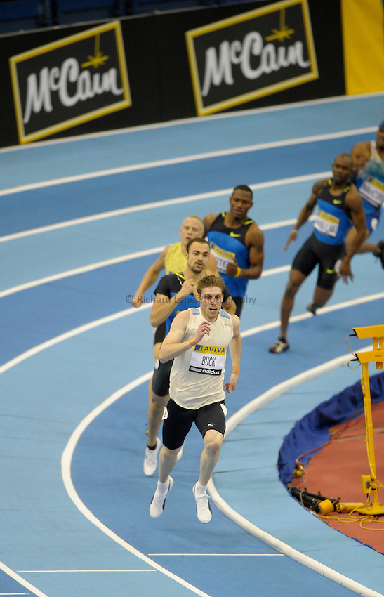 Photo: Ady Kerry/Richard Lane Photography..Aviva Grand Prix. 21/02/2009. .Richard Buck in the 400m