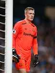 Jordan Pickford of Everton during the Premier League match at the Eithad Stadium, Manchester. Picture date 21st August 2017. Picture credit should read: Simon Bellis/Sportimage