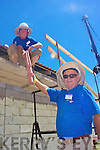 For the Blue Team father & son team l-r; Kevin & Timinien Griffin on roof duty at Walllacedene, Cape Town last week.