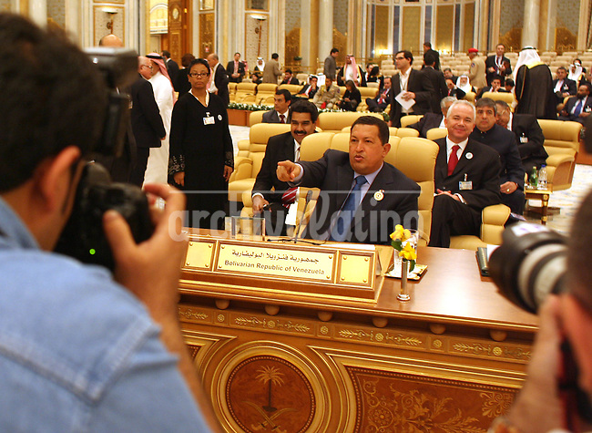 President of Venezuela Hugo Chavez during  the  Organization of Petroleum Exporting Countries (Opec) summit in Ryadh.