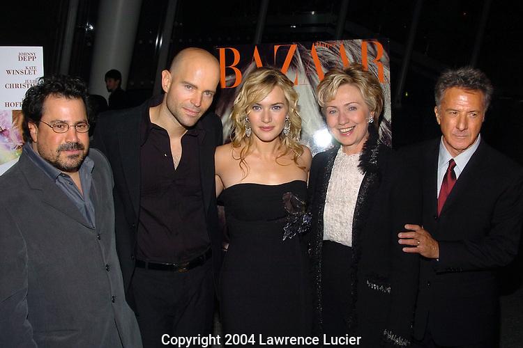 Richard Gladstein, Marc Forster, Kate Winslett, Hillary Clinton, Dustin Hoffman