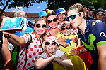 Jasha Sutterlin (GER) Movistar Team with fans at sign on before the start of Stage 18 of the 104th edition of the Tour de France 2017, running 179.5km from Briancon to the summit of Col d'Izoard, France. 20th July 2017.<br /> Picture: ASO/Alex Broadway | Cyclefile<br /> <br /> <br /> All photos usage must carry mandatory copyright credit (&copy; Cyclefile | ASO/Alex Broadway)