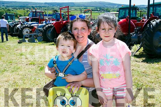 Enjoying Kilflynn Vintage Rally Day on Sunday were Fionn O'Donoghue, Siobhan O'Donoghue and Grace O'Donoghue
