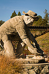 Placerville goldminer statue.