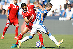 CD Leganes' Ruben Perez (r) and Sevilla FC's Paulo Henrique Ganso during La Liga match. October 15,2016. (ALTERPHOTOS/Acero)