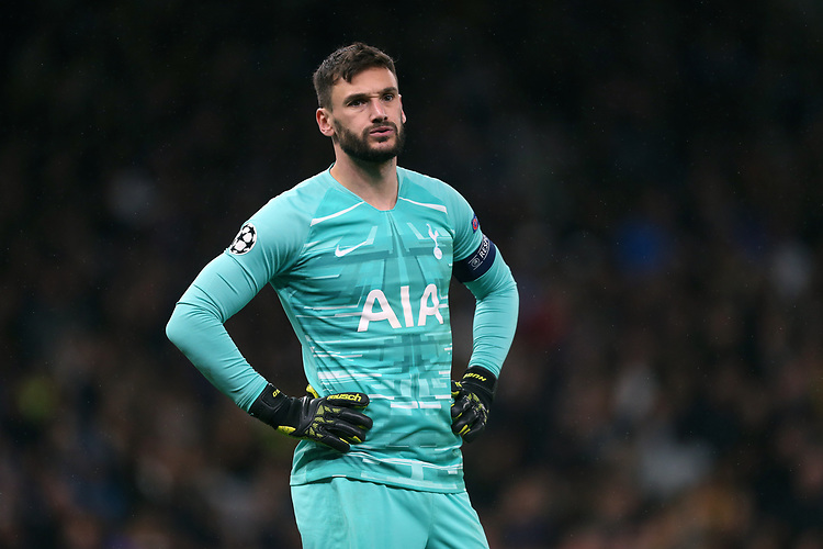 Tottenham Hotspur's Hugo Lloris<br /> <br /> Photographer Rob Newell/CameraSport<br /> <br /> UEFA Champions League Group B  - Tottenham Hotspur v Bayern Munich - Tuesday 1st October 2019 - White Hart Lane - London<br />  <br /> World Copyright © 2018 CameraSport. All rights reserved. 43 Linden Ave. Countesthorpe. Leicester. England. LE8 5PG - Tel: +44 (0) 116 277 4147 - admin@camerasport.com - www.camerasport.com
