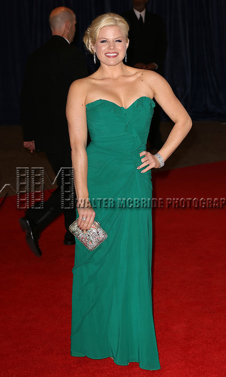 Megan Hilty  attending the  2013 White House Correspondents' Association Dinner at the Washington Hilton Hotel in Washington, DC on 4/27/2013