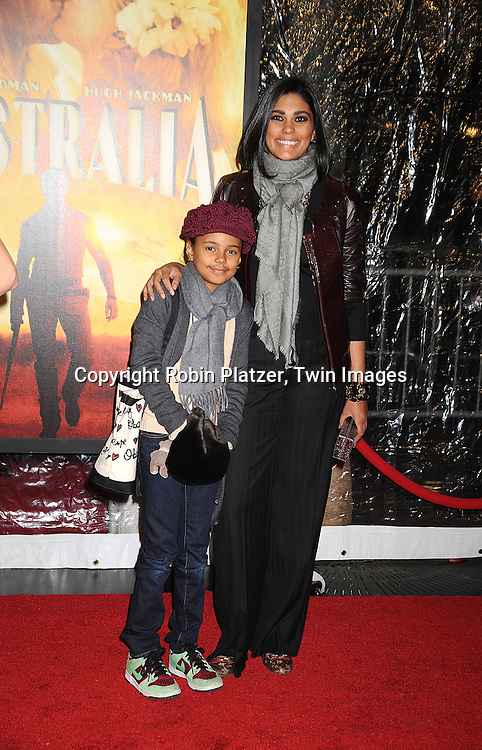 "Rachel Roy and daughter..posing for photographers at The New York Movie Premiere of ""Australia"" on November 24, 2008 at The Ziegfeld Theatre. ....Robin Platzer, Twin Images....212-935-0770"