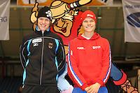 SCHAATSEN: HEERENVEEN: IJsstadion Thialf, 07-03-2008, VikingRace, Hubert Hirschbichler (GER), Koen Verweij (NED), ©foto Martin de Jong