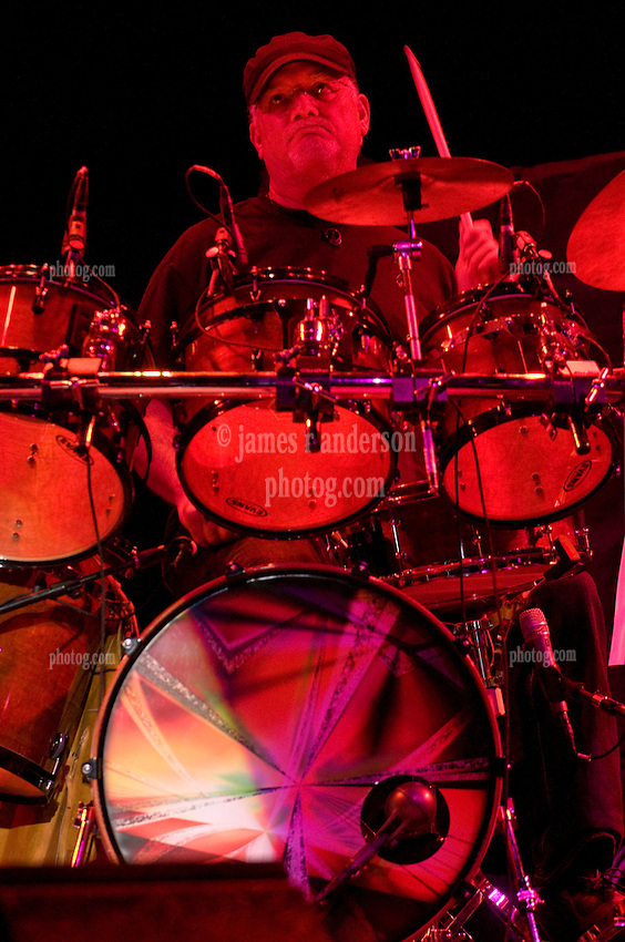 Bill Kreutzmann on Percussion performing with 7 Walkers in Concert in The Wolfs Den at Mohegan Sun Casino on December 9, 2010