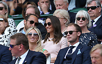 Pippa Middleton attends day seven<br /> <br /> Photographer Rob Newell/CameraSport<br /> <br /> Wimbledon Lawn Tennis Championships - Day 7 - Monday 8th July 2019 -  All England Lawn Tennis and Croquet Club - Wimbledon - London - England<br /> <br /> World Copyright © 2019 CameraSport. All rights reserved. 43 Linden Ave. Countesthorpe. Leicester. England. LE8 5PG - Tel: +44 (0) 116 277 4147 - admin@camerasport.com - www.camerasport.com