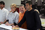 Spanish chefs Paco Roncero (R), Alberto Chicote (C) and Susi Diaz (L)  attends 'Top Chef' new season presentation in Madrid , Spain. February 14, 2017. (ALTERPHOTOS/Rodrigo Jimenez)
