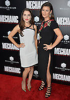 LOS ANGELES, CA. August 22, 2016: Actresses Alix Angelis &amp; Carrie Lazar at the Los Angeles premiere of &quot;Mechanic: Resurrection&quot; at the Arclight Theatre, Hollywood.<br /> Picture: Paul Smith / Featureflash
