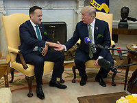 MAR 15 United States President Donald J. Trump meets with Prime Minister Leo Varadkar of Ireland