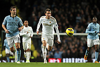 Barclays Premier League, Man City (blue) V Swansea City (white) Etihad Stadium, 27/10812<br /> Pictured: Michu looked a real threat for Swansea<br /> Picture by: Ben Wyeth / Athena Picture Agency