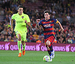 20.09.2015 Barcelona.Spanish la Liga BBVA day 4. Picture show Leo Messi in action during game between FC Barcelona against Levante at Camp Nou