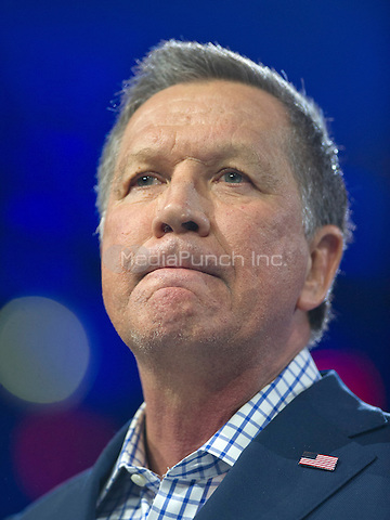 Governor John Kasich (Republican of Ohio), a candidate for the Republican Party nomination for President of the United States, speaks at the Conservative Political Action Conference (CPAC) at the Gaylord National Resort and Convention Center in National Harbor, Maryland on Friday, March 4, 2016.<br /> Credit: Ron Sachs / CNP/MediaPunch
