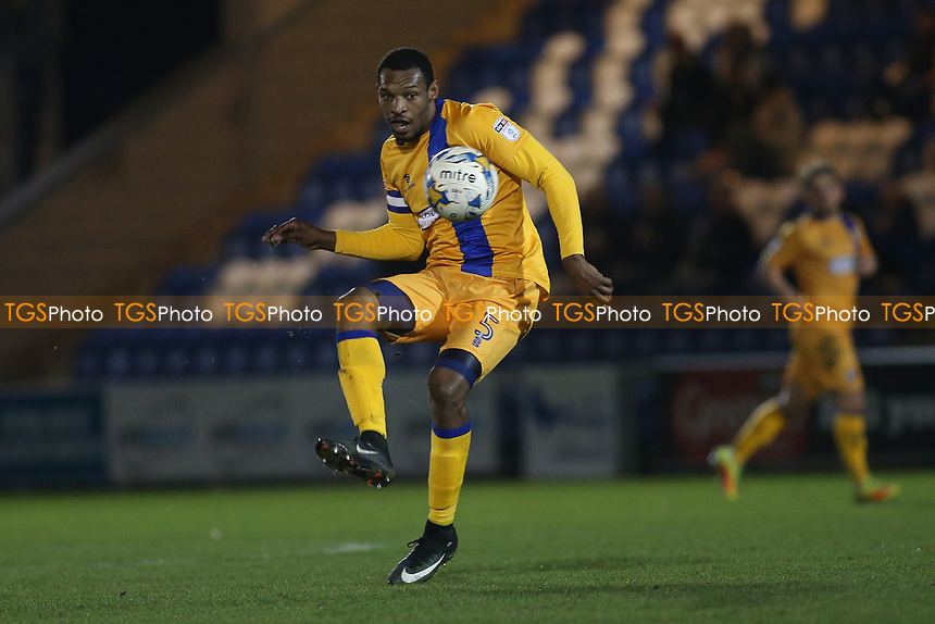 Krystian Pearce of Mansfield Town during Colchester United vs Mansfield Town, Sky Bet EFL League 2 Football at the Weston Homes Community Stadium on 14th March 2017